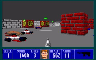 In game screen pic from Bob1 - my first Wolfenstein level for the full version game